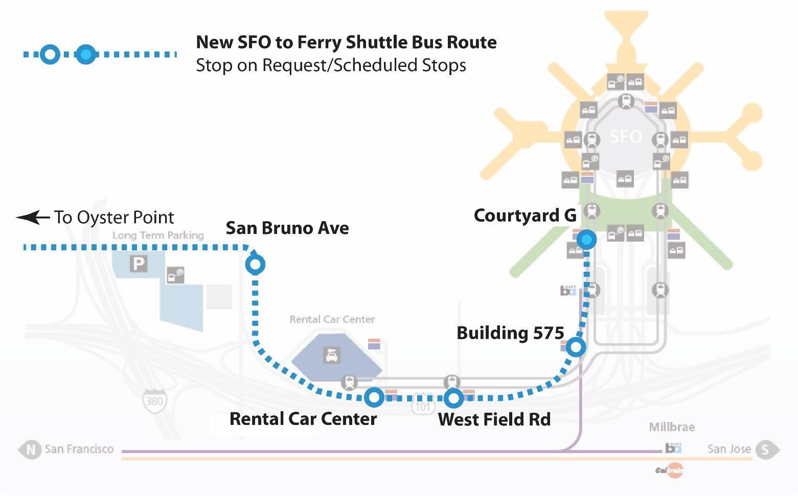 Ferry Shuttle Map