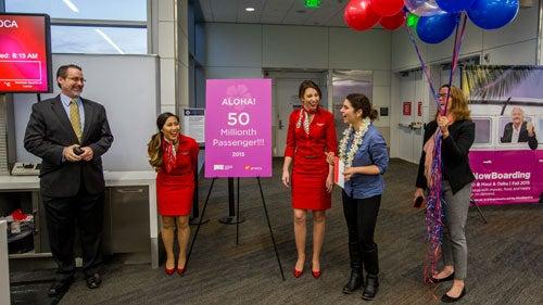 SFO's 50 Millionth Passenger