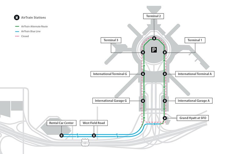 AirTrain map